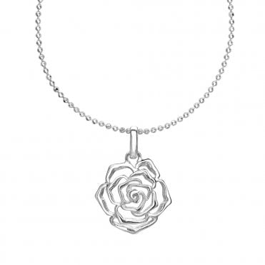 Sterling Silver Wild Rose Pendant