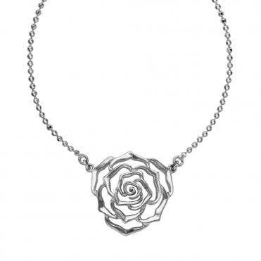 Dower & Hall Sterling Silver Wild Rose Pendant
