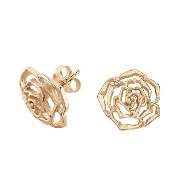 Dower & Hall Sterling Silver & Yellow Vermeil Wild Rose Stud Earrings