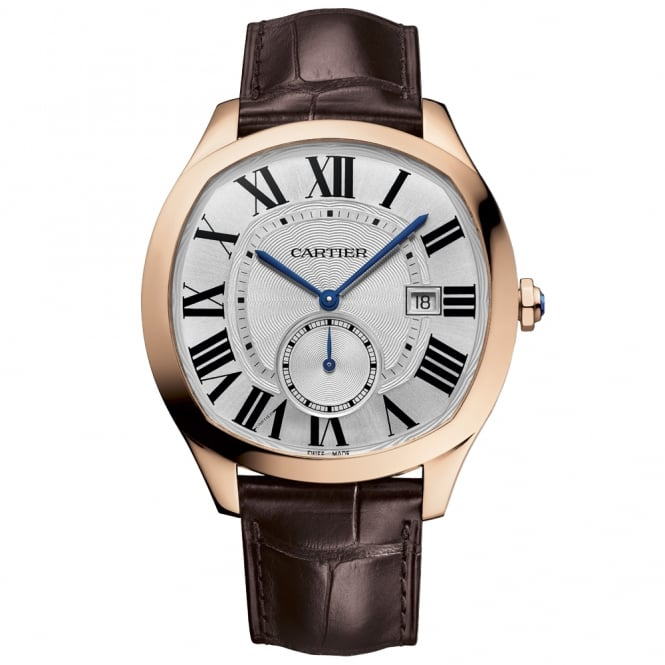 Cartier Drive De 18ct Pink Gold Silver Roman Dial Automatic Men's Strap Watch