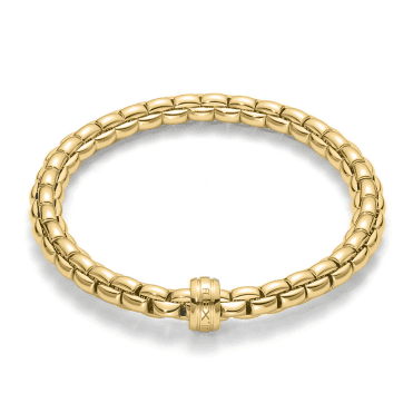 Flex'it Eka 18ct Yellow Gold Bracelet With 18ct Yellow Gold Plain Rondel