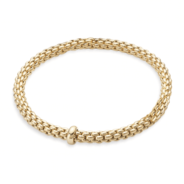 Flex'it Solo 18ct Yellow Gold Bracelet With Yellow Gold Plain Rondel
