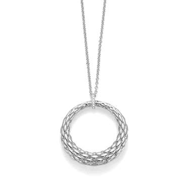 Lovely Daisy 18ct White Gold Pendant Necklace