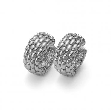 Lux 18ct White Gold Earrings