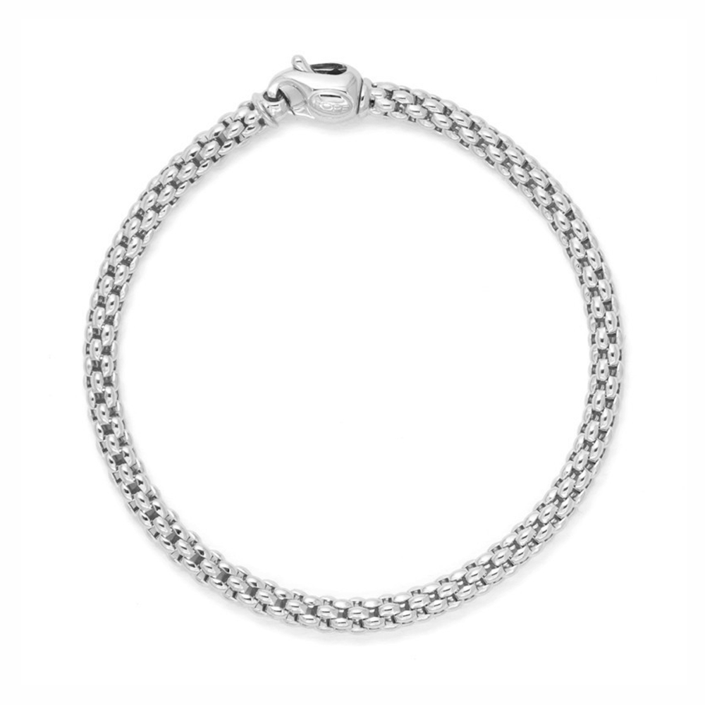 White Gold Cuff Bracelet: Fope Unica 18ct White Gold Bracelet From Berry's Jewellers