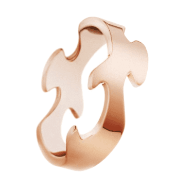 18ct Rose Gold Fusion Centre Ring