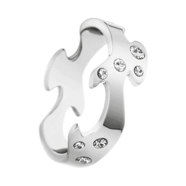 18ct White Gold Diamond Set Fusion Centre Ring
