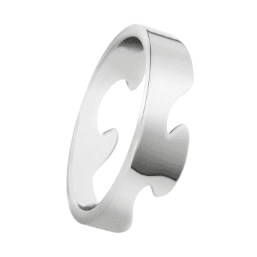 18ct White Gold Fusion End Ring