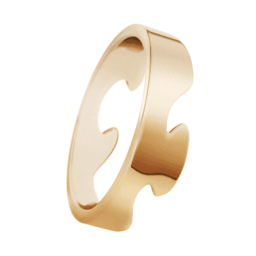 18ct Yellow Gold Fusion End Ring