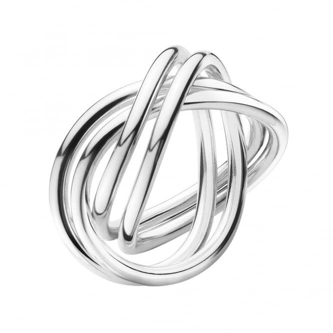 Georg Jensen Alliance Sterling Silver Crossover Design Ring