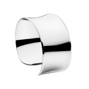 Archive Sterling Silver Narrow Cuff Bangle