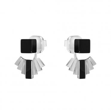 Georg Jensen Aria Black Onyx & Sterling Silver Earrings
