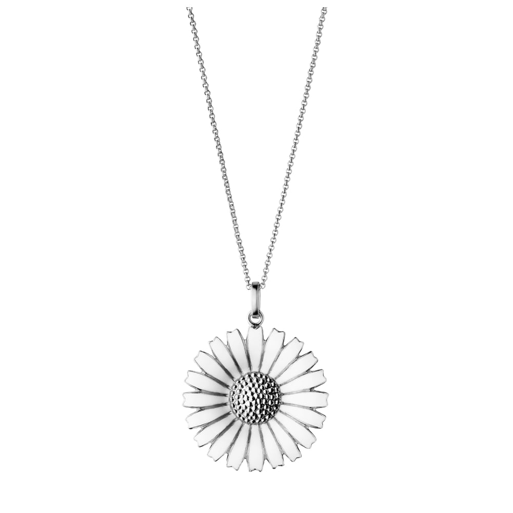 pendant antika sterling cubic products white with daisy of enamel petals silver centre seven zirconia a