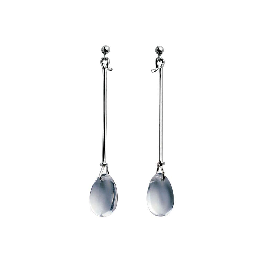 e8b1825ab Georg Jensen Georg Jensen Dew Drop Silver & Rock Crystal Earrings