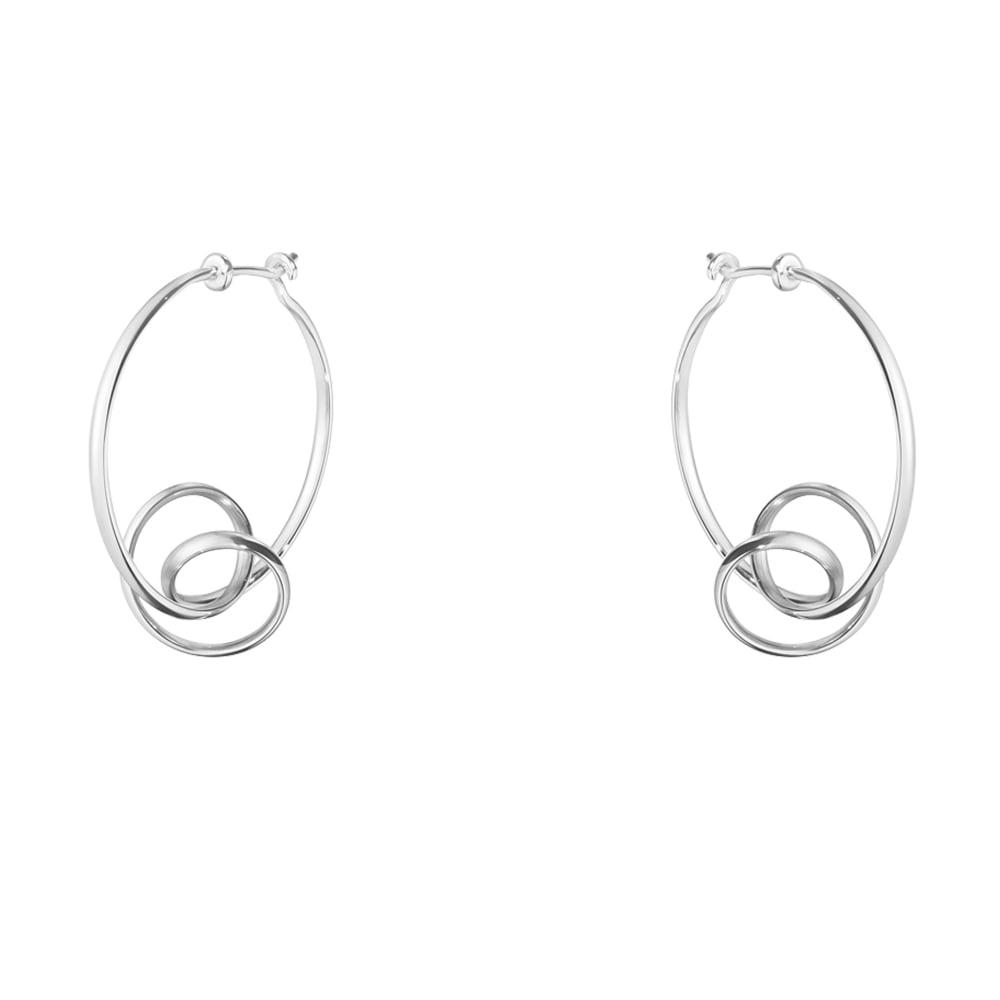 9853dce73 Forget-Me-Knot Sterling Silver Hoop Earrings · Georg Jensen ...