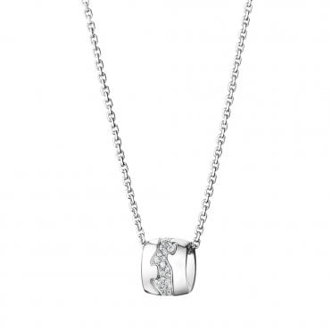 Fusion 18ct White Gold Pave Set Pendant