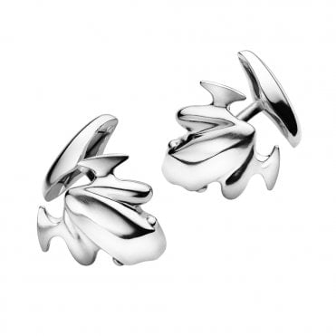 Koppel Frog Sterling Silver Men's Cufflinks