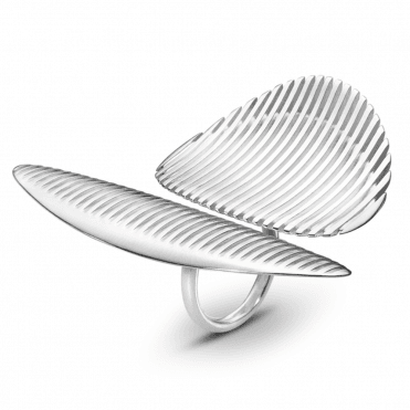 Lamellae Twin Sterling Silver Dress Ring