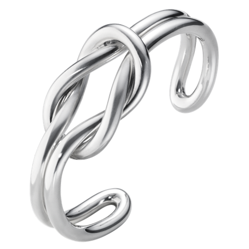 Georg Jensen Love Knot Double Silver Bangle From Berry S