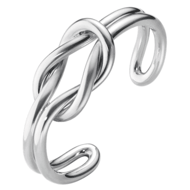 Love Knot Double Sterling Silver Bangle
