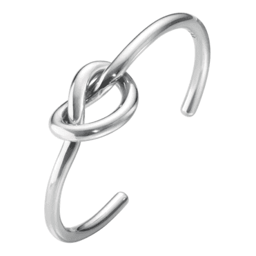 Love Knot Sterling Silver Bangle