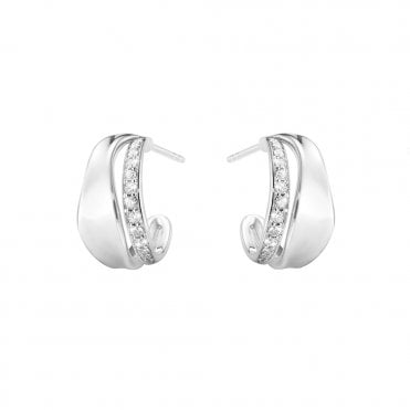 Marcia Silver & Diamond Earrings