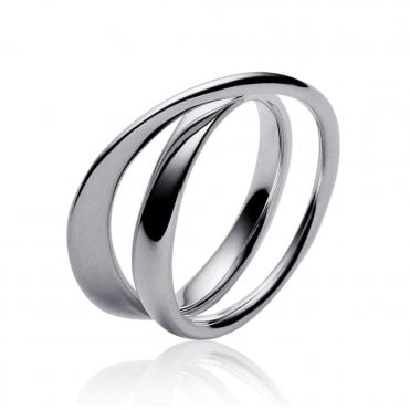 Mobius Sterling Silver Crossover Dress Ring