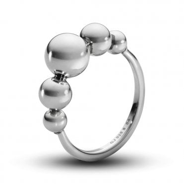 Georg Jensen Moonlight Grapes Slim Sterling Silver Ring