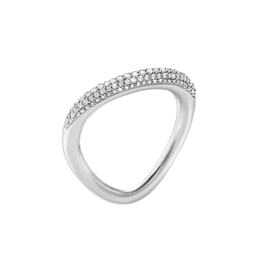 Offspring Sterling Silver Diamond Pave Set Ring