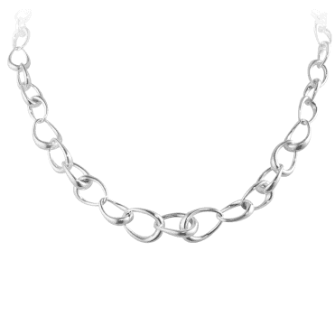 Offspring Sterling Silver Graduated Link Necklace