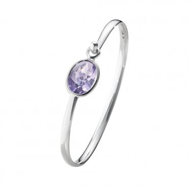 Savannah Sterling Silver & Amethyst Bangle
