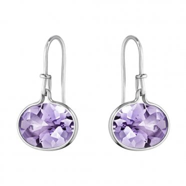 Savannah Sterling Silver & Amethyst Earrings