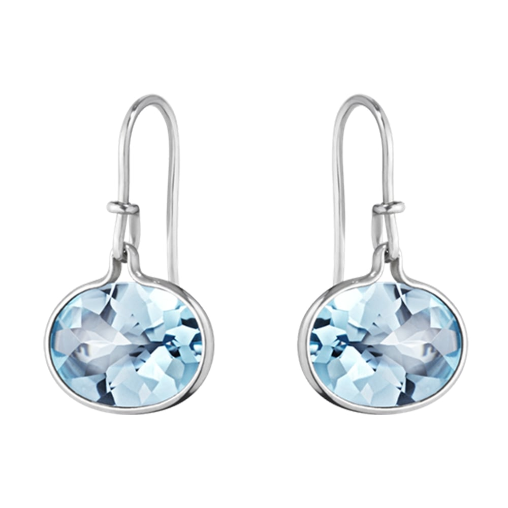 jewelry earrings silver luminous blue topaz jewellery