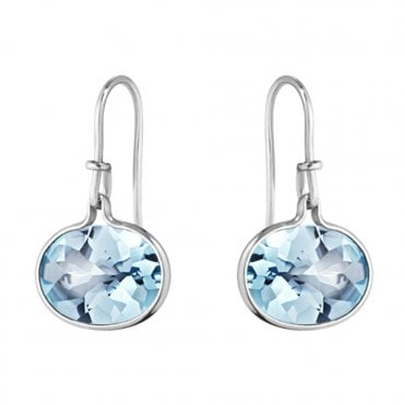 Savannah Sterling Silver & Blue Topaz Earrings