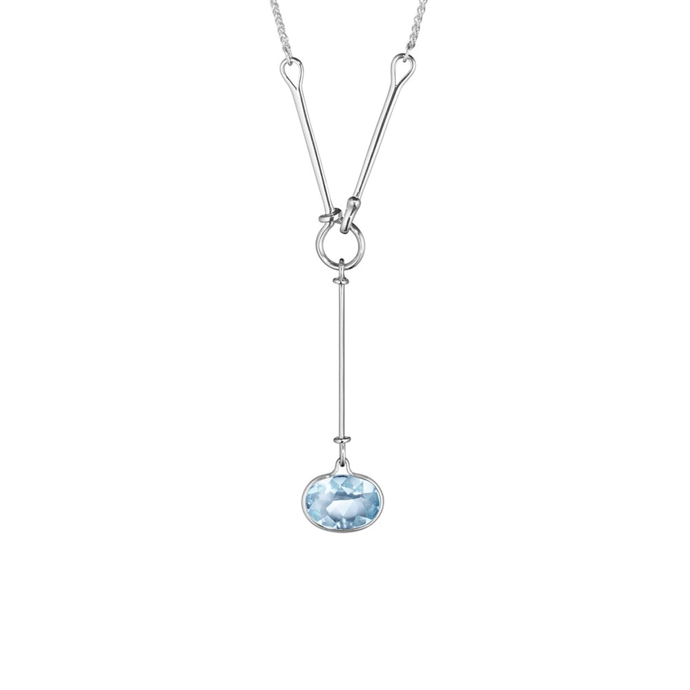 topaz round necklace gold with faceted in products white blue diamonds