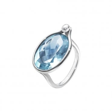 Savannah Sterling Silver & Blue Topaz Ring
