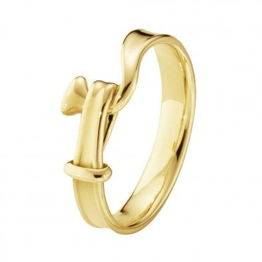 Georg Jensen Torun 18ct Yellow Gold Dress Ring