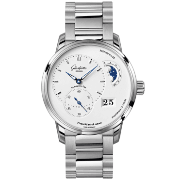 PanoMaticLunar 40mm Silver Dial Men's Automatic Bracelet Watch