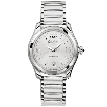 Serenade 36mm Silver Roman Dial Ladies Bracelet Watch