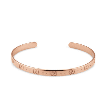 18ct Pink Gold Icon Bangle