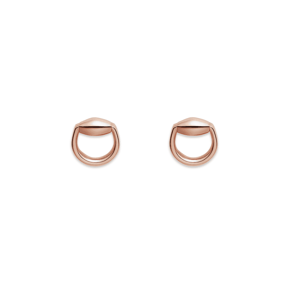 d87e24f69 Gucci Gucci Gucci 18ct Rose Gold Stud Earrings