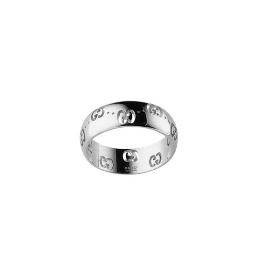 gucci ring. 18ct white gold icon ring gucci