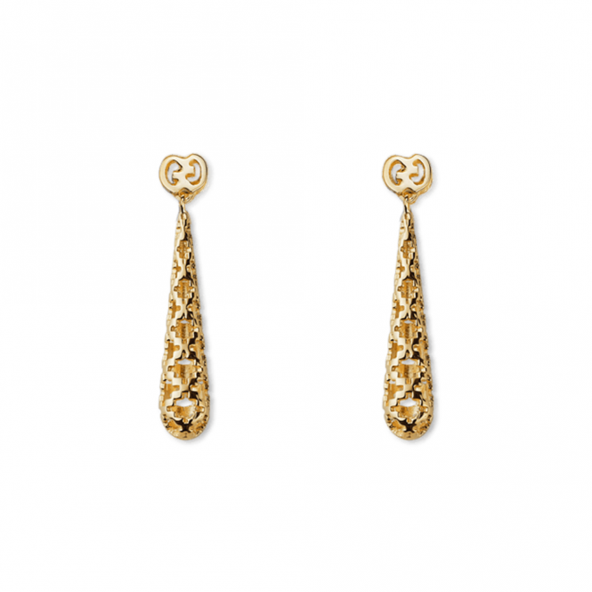 Gucci 18ct Yellow Gold Diamantissima Drop Earrings