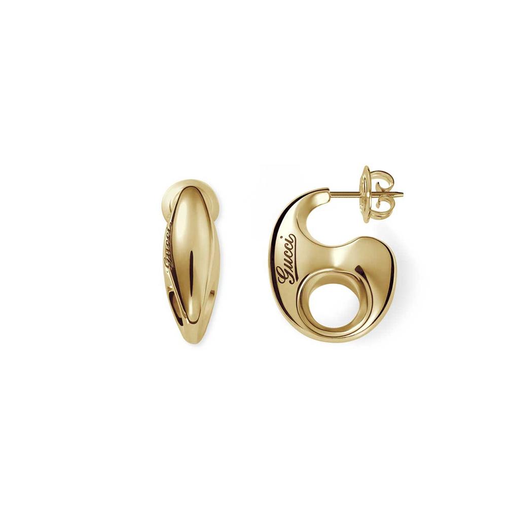 2e2e65e2534 Gucci Gucci 18ct Yellow Gold Marina Chain Stud Earrings