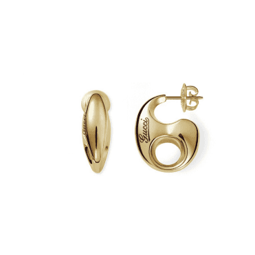 18ct Yellow Gold Marina Chain Stud Earrings