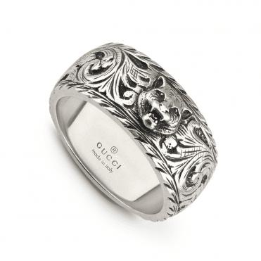 ca2099a2de8 Aged Sterling Silver Gatto Ring