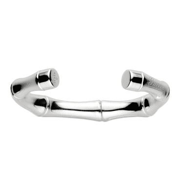 Bamboo Sterling Silver Cuff Bangle