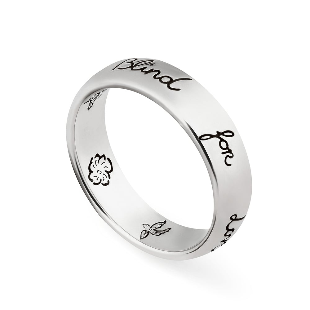 c5c67ff4475 Gucci Blind for Love Silver Ring YBC455247001 from Berry s Jewellers