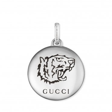 Blind for Love Tiger Head Aureco Silver Charm