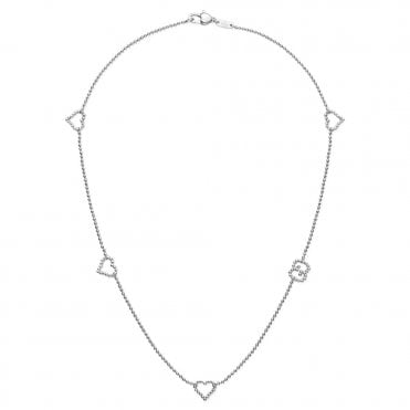 Boule Heart & GG Sterling Silver Necklace
